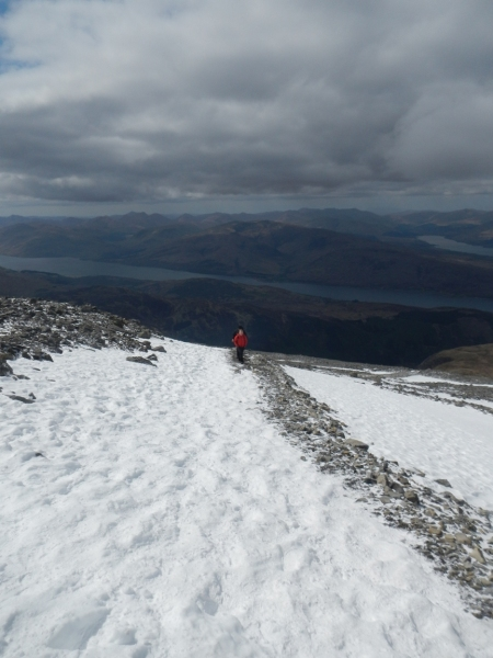 Tourist path up Ben Nevis