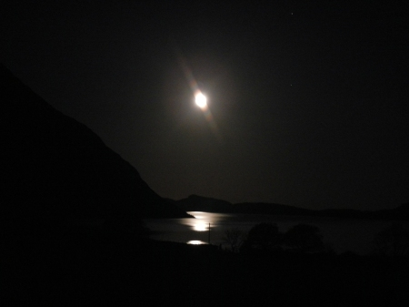 Wast Water under a full moon