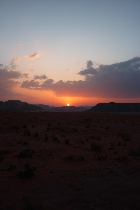 Desert sunset, South Jordan, April 2011