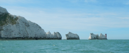 View of the Needles from the sea