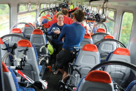 Special service trains were put on for cyclists