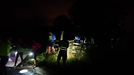 Night trail running